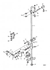 Передаточный вал и тяга газа 0E000001-0E009499