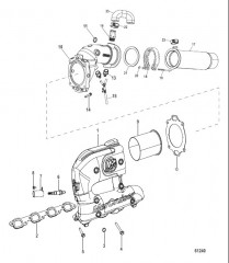 Схема Exhaust Manifold And Elbow 2 Inch MIE (2A505452 and Up)