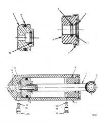 Цилиндр в сборе (гидравлический) (845739A10)