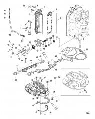 Схема Выхлопной коллектор и пластина выхлопа