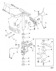 Схема Steering Arm/Swivel Bracket Manual Tilt