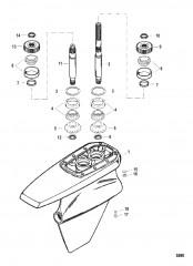Схема Картер редуктора Мокрый поддон SSM VI – Ведущий вал (до 1998 г.)