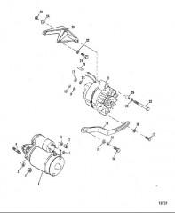 Схема Впускной коллектор и передняя крышка (460)