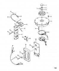 Схема Маховик Катушка зажигания и распределительная коробка