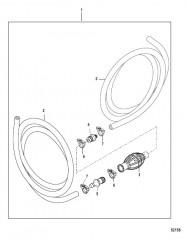 Схема Топливопровод в сборе Без соединителей (не соотв. EPA)