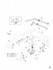 Термостат и шланги (Стандартная система охлаждения) с/н: 0L341000 и выше)