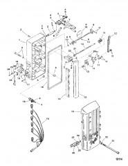 Схема Компоненты усилителя дифферента (Литой корпус насоса)