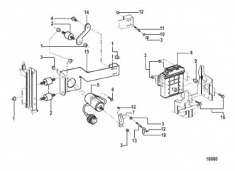 Блок управления и кронштейн (Новая конструкция для размещения ECM)