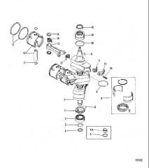 Схема Коленчатый вал Поршни/соединительные стержни (№638-8532-1)