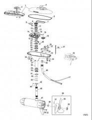 Двигатель для тралового лова в сборе (Модель DS54FB) (12 В)