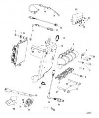 Схема Кронштейн переключения передач Механический