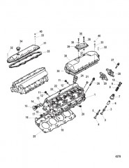 Схема Головка цилиндра и крышки коромысла
