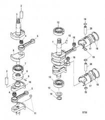 Схема Crankshaft, Pistons and Connecting Rods