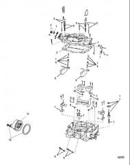 Схема Карбюратор Четырехдиффузорный