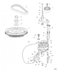 Схема Маховик и генератор