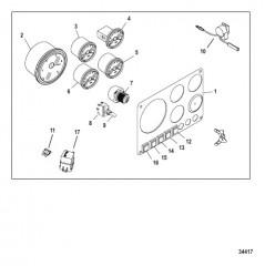 Схема Компоненты комплекта приборной панели Полный