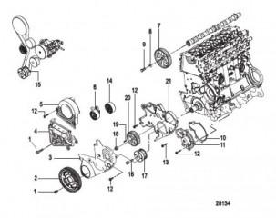 Схема Синхронный ремень и компоненты