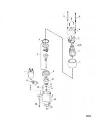 Схема Стартер в сборе (50-8M8021116) (встраиваемые модели Bravo)
