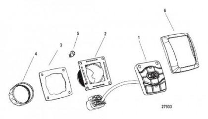 Схема Переключатель панели CAN авторулевой системы в сборе Штурвальное крепление