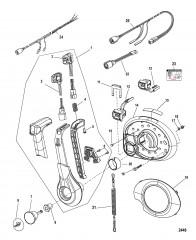 Дистанционное управление – 4000 GEN II (Задвижка) панельное крепление