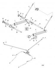 Цилиндры системы дифферента и гидравлические шланги (Стандартные транцы)