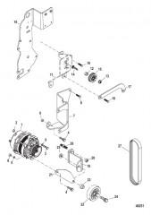 Схема Генератор и кронштейны 383 Mag Bravo 4V