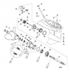 Gear Housing Propeller Shaft - 1.83:1 Gear Ratio