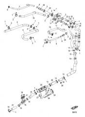Схема Охлаждение пресной водой Шланги системы охлаждения V-привода