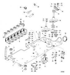 Схема Электрическая панель в сборе 0M973452 и ниже