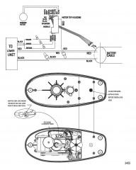 Схема электрических подключений (Модель DS54FB) (12 В)