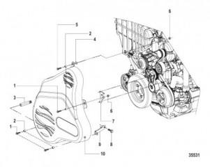 Схема Drive Belt Cover Inboard