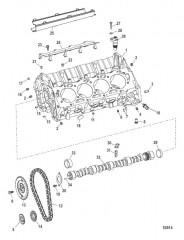 Блок цилиндров и распределительный вал