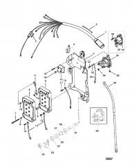 Электропроводка, электромагнит стартера и выпрямитель