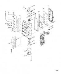 Схема Колпачки и выхлопная крышка
