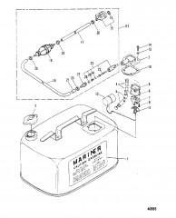 Схема ТОПЛИВНЫЙ БАК (M-019155/ML-318599/E-104325/EL-409500