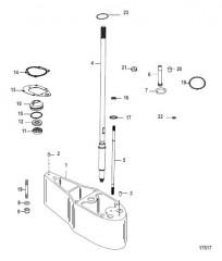 Схема Комплект удлинителя – 2.5 Корпус ведущего вала (816696A1 / A2)