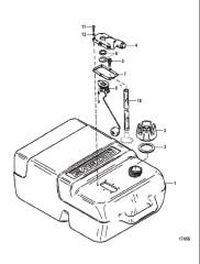 Схема Топливный бак в сборе (6.6 галл.)  (Серия 812410)