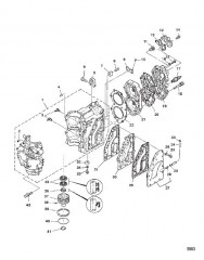 Схема Блок цилиндров и головка цилиндра