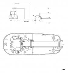 Схема электрических подключений (Модель T25) (без быстроразъемного соединения)