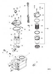 Компоненты топливного модуля – Bravo (С/н 1A349419 и ниже)