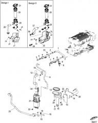 Схема Fuel Supply Module and Rail