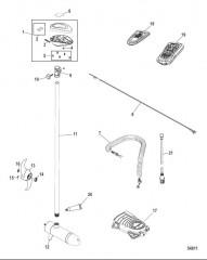 Схема Двигатель для тралового лова в сборе