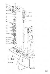Схема Картер редуктора (Ведущий вал – № отливки 1655-9572C)