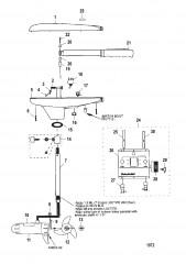 Двигатель для тралового лова в сборе (Модель 652) (12 В)