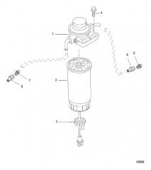 Схема FUEL FILTER AND PUMP