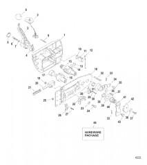 Схема Блок ДУ в сборе (802755) (модели 240 EFI)