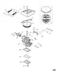 Карбюратор и тяга газа (Двухдиффузорный карбюратор)