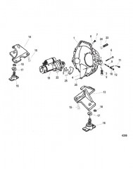 Схема Стартер Опоры двигателя и и корпус маховика