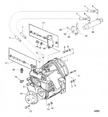 Схема TRANSMISSION AND RELATED PARTS (BORG WARNER 5000)