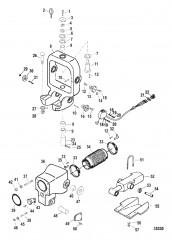 Схема Кольцо кардана/колоколообразный кожух Сухой поддон с датчиком дифферента